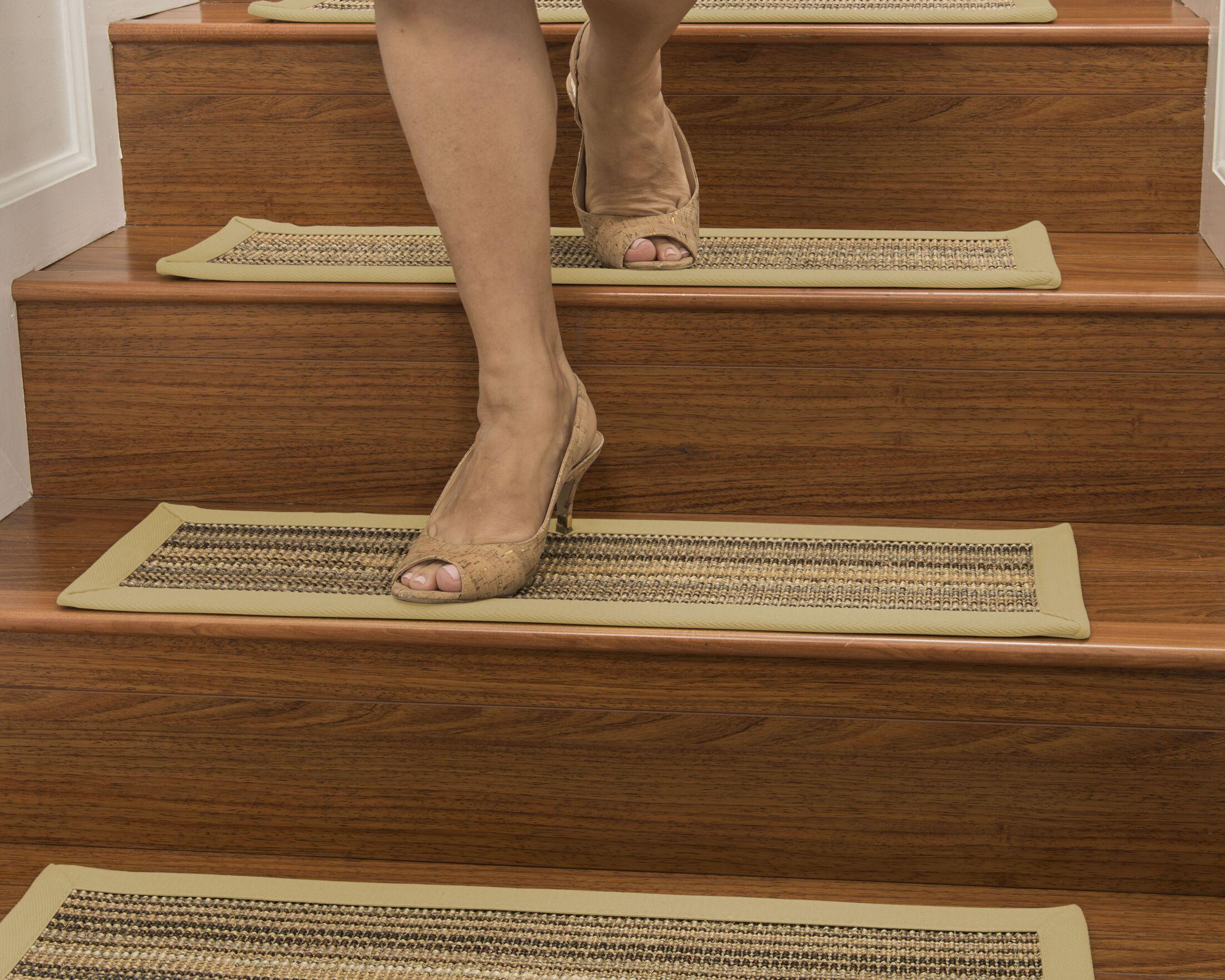 Dover Custom Sisal Stair Tread Color: Sand