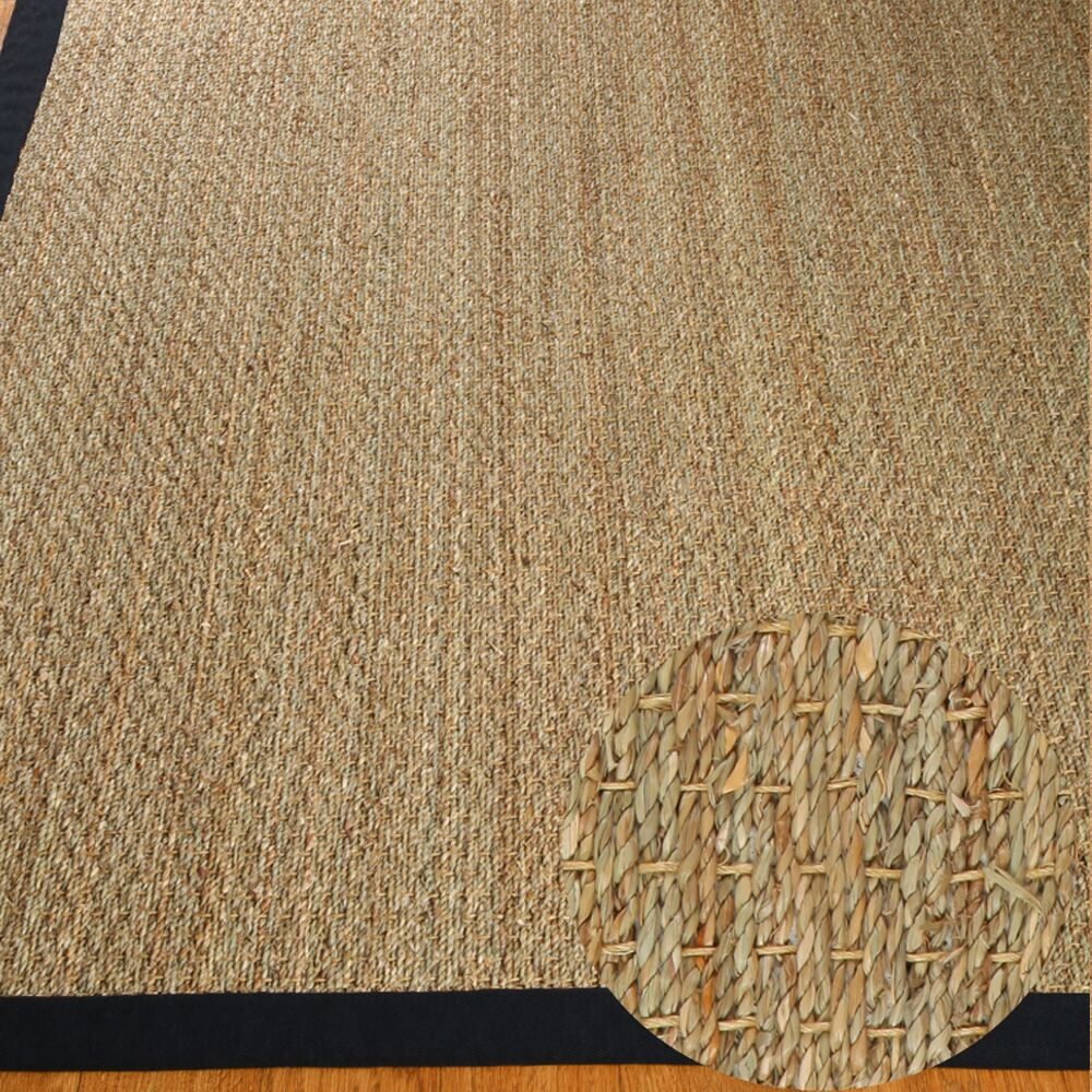 Alland Hand-Woven Seagrass Brown Area Rug Rug Size: Rectangle 9' x 12'