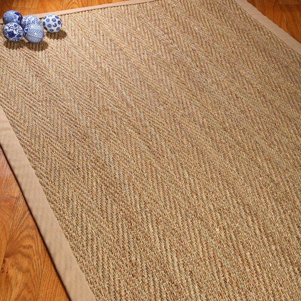Alland Handmade Bamboo Slat/Seagrass Brown Indoor Area Rug Rug Size: Rectangle 5' x 8'