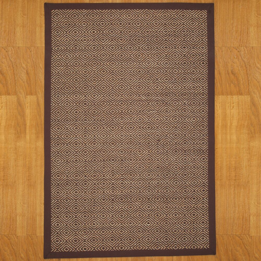 Sisal Kerala Hand-Knotted Jute Brown Indoor Rug Rug Size: Rectangle 8' x 10'