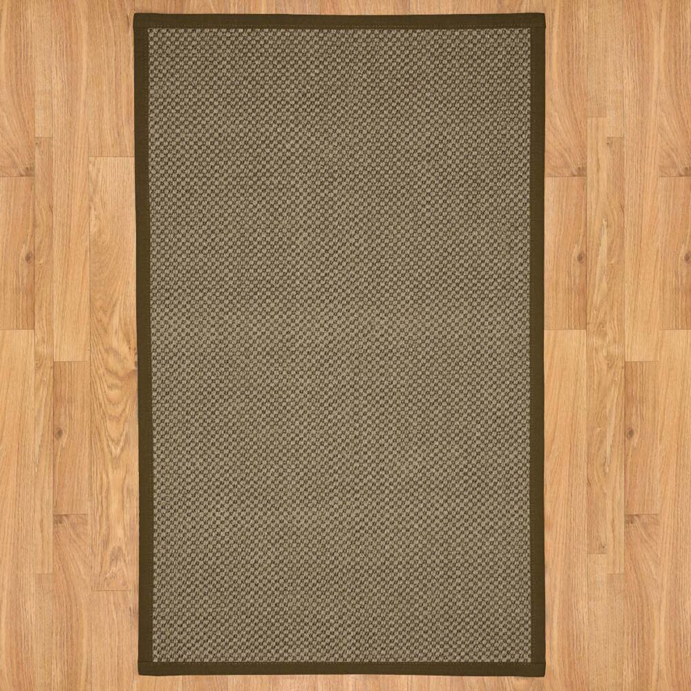 District Brown Area Rug Rug Size: Rectangle 8' x 10'