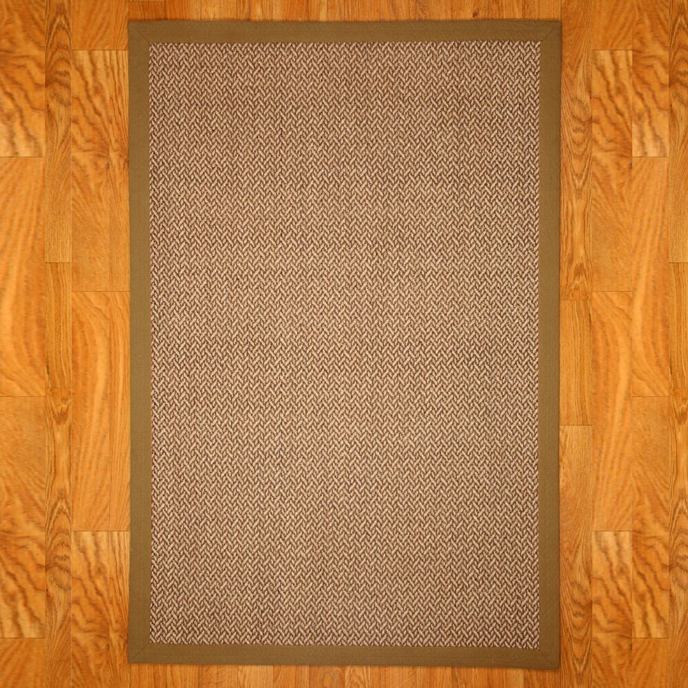 Sisal India Brown/Beige Area Rug Rug Size: Rectangle 9' x 12'