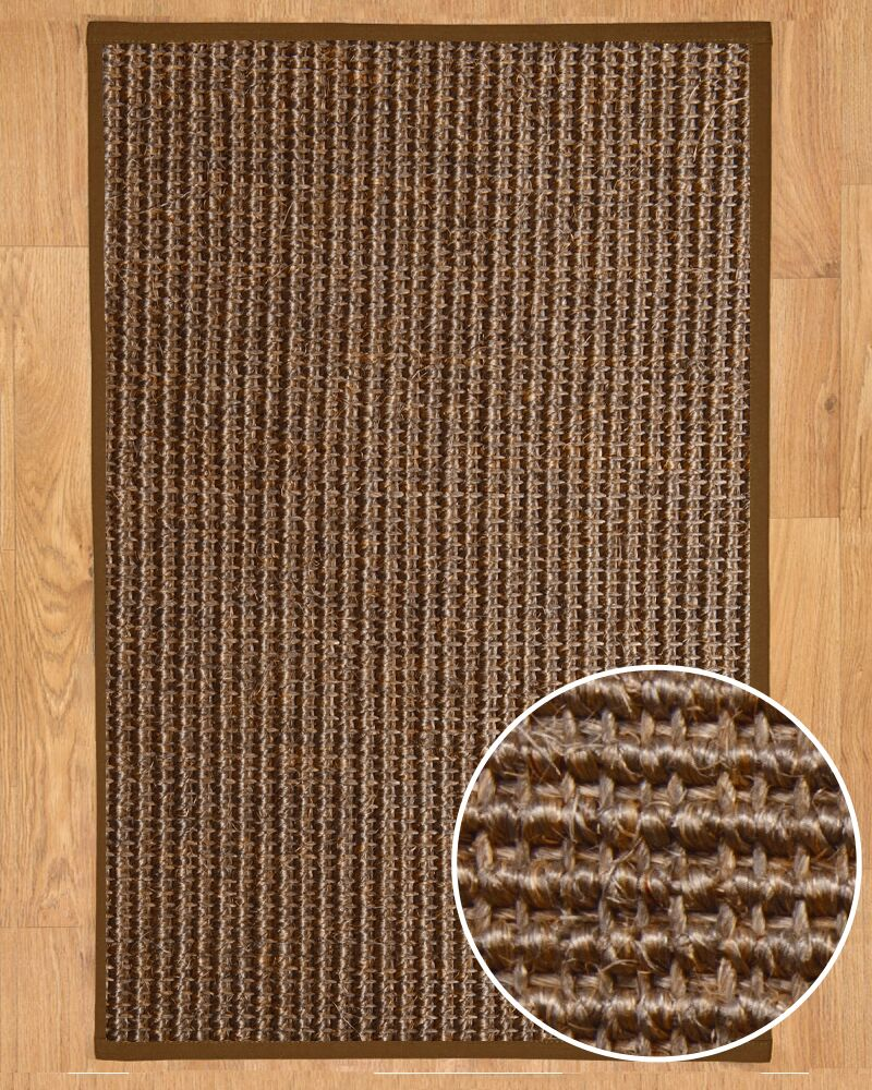 Linden Hand-Woven Brown Area Rug Rug Size: Rectangle 8' x 10'