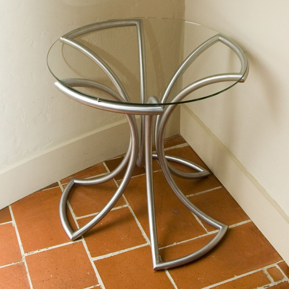 Flower End Table Color: Stainless Steel