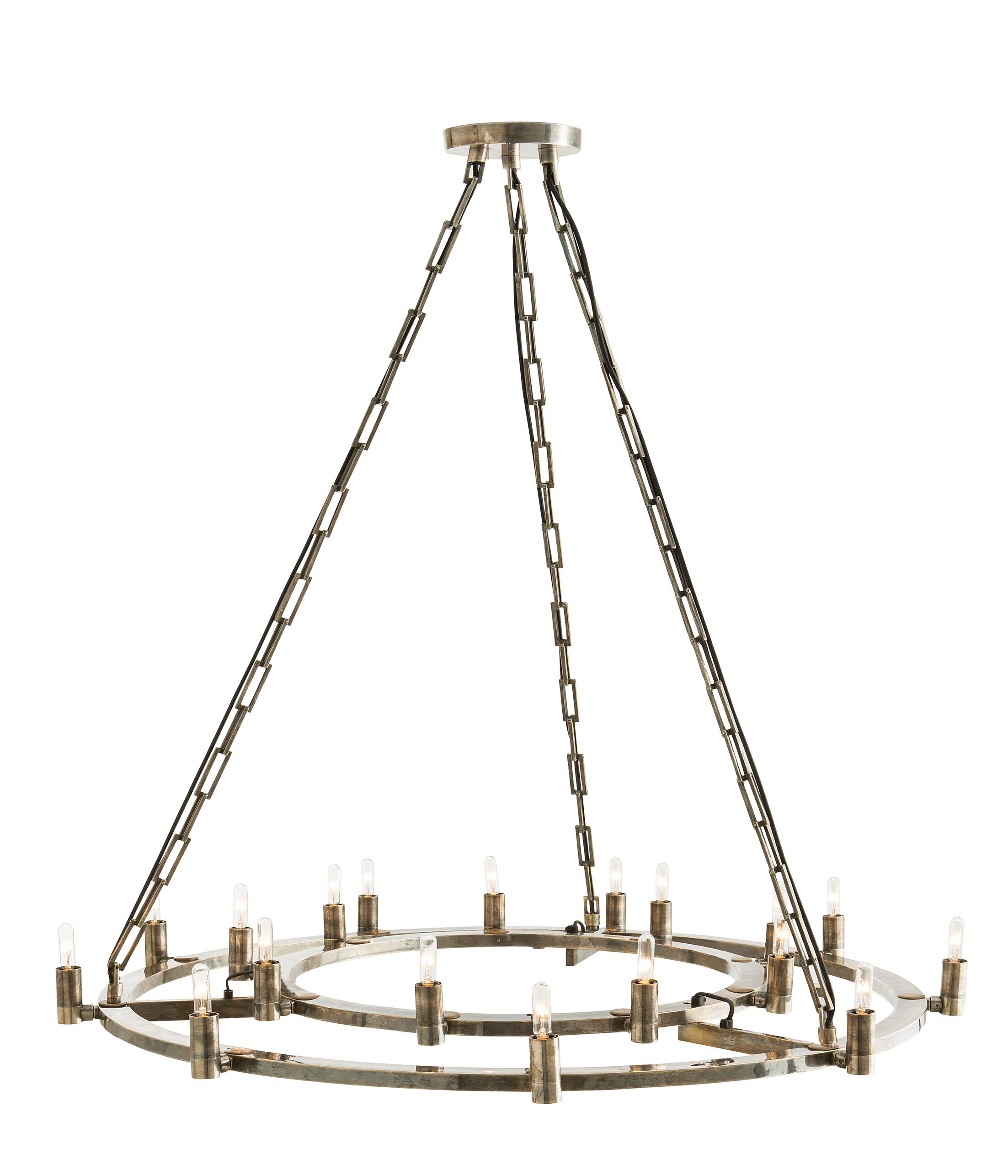 Kaylor 18-Light Wagon Wheel Chandelier