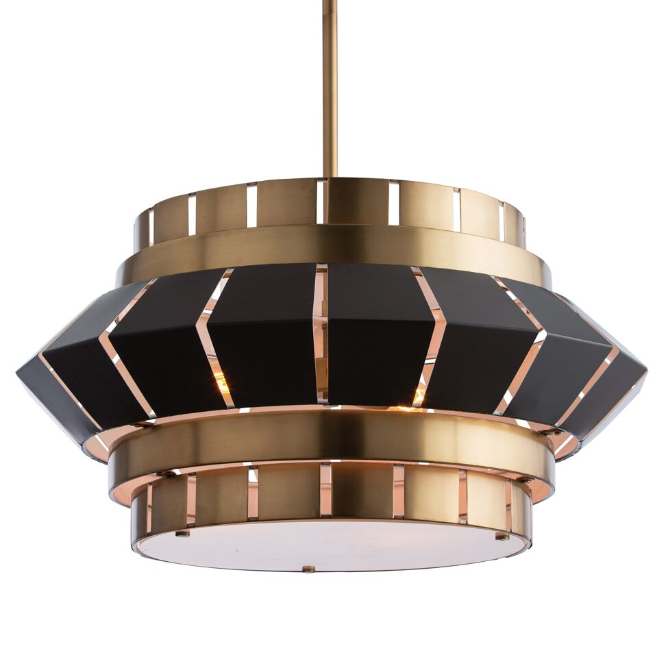 3-Light Geometric Chandelier