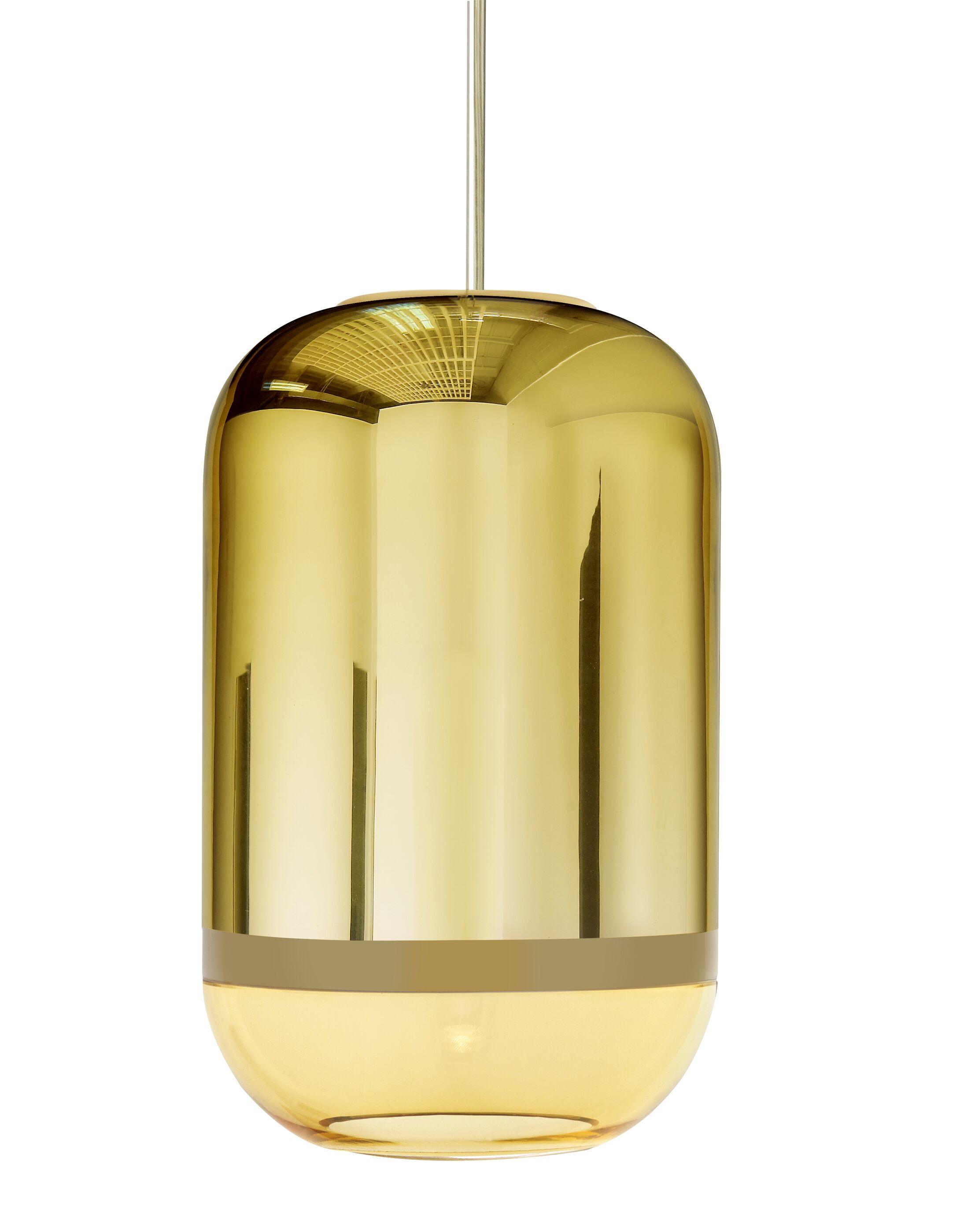 Magica 1-Light Cylinder Pendant Finish: Gold