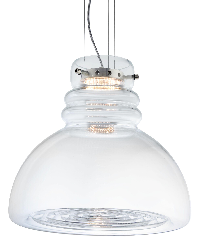 Grande Torino Suspension 1-Light Inverted Pendant Shade Color: Clear