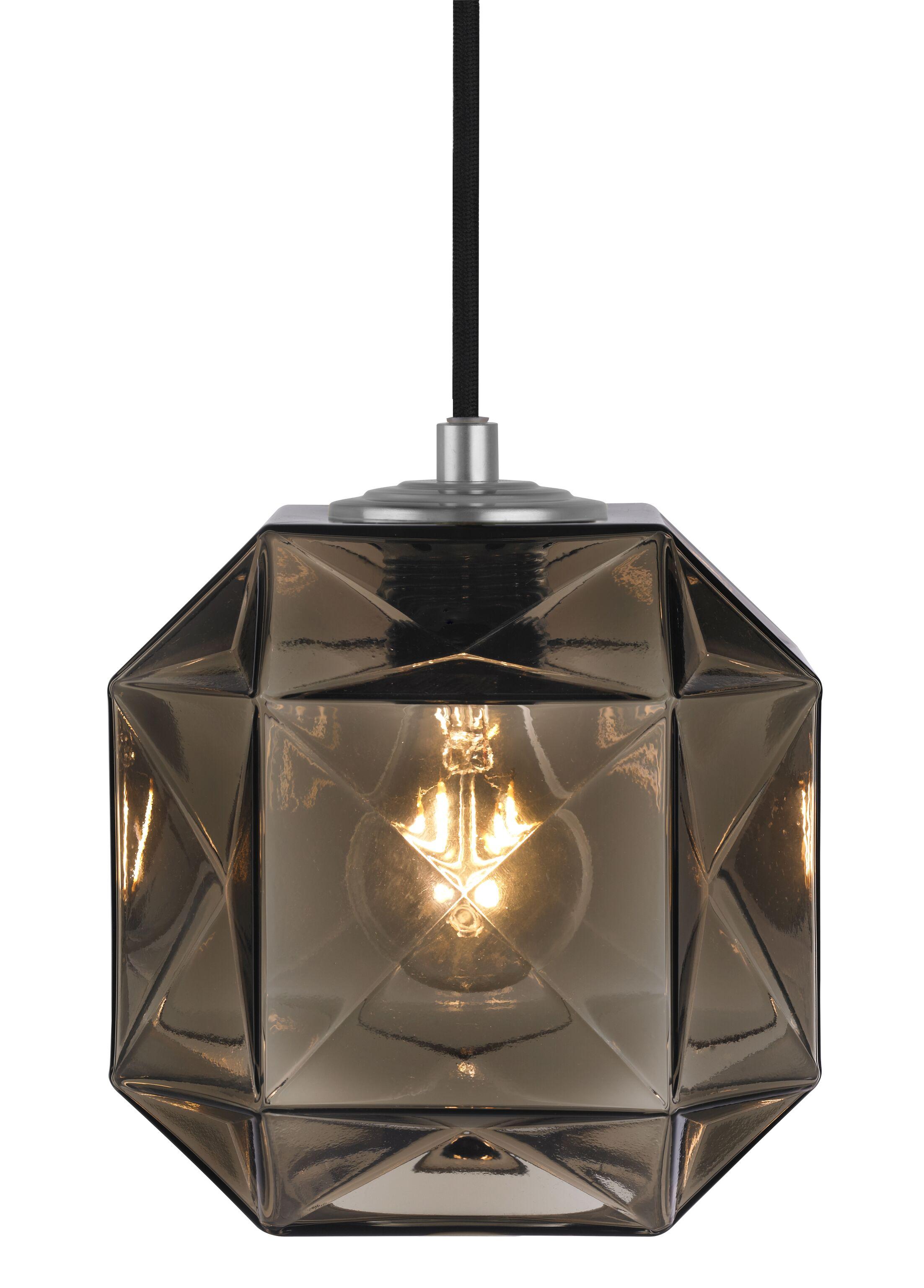 Mimo Cube 1-Light Geometric Pendant Shade Color: Bronze