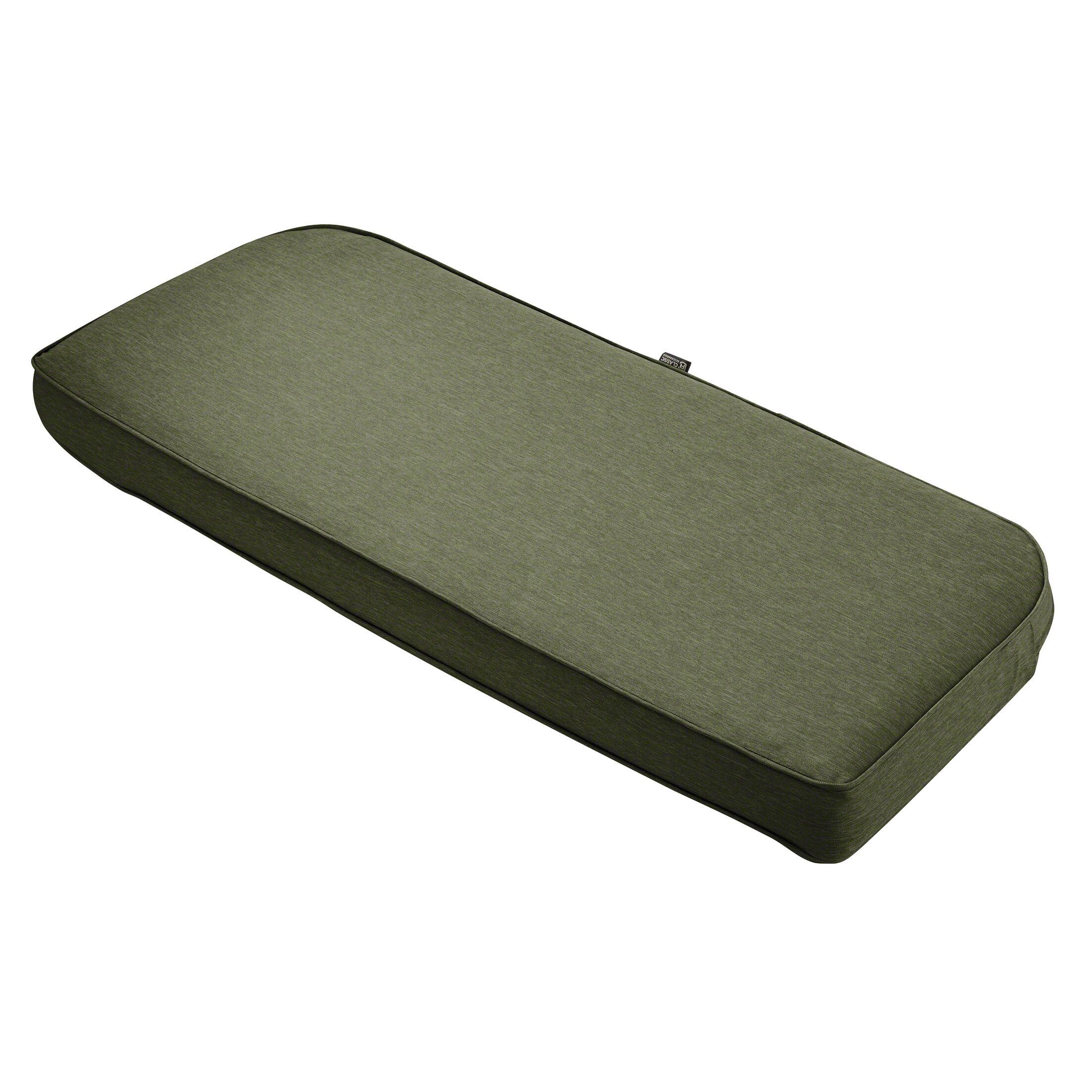 Gunn FadeSafe? Outdoor Bench Cushion Fabric: Heather Fern Green