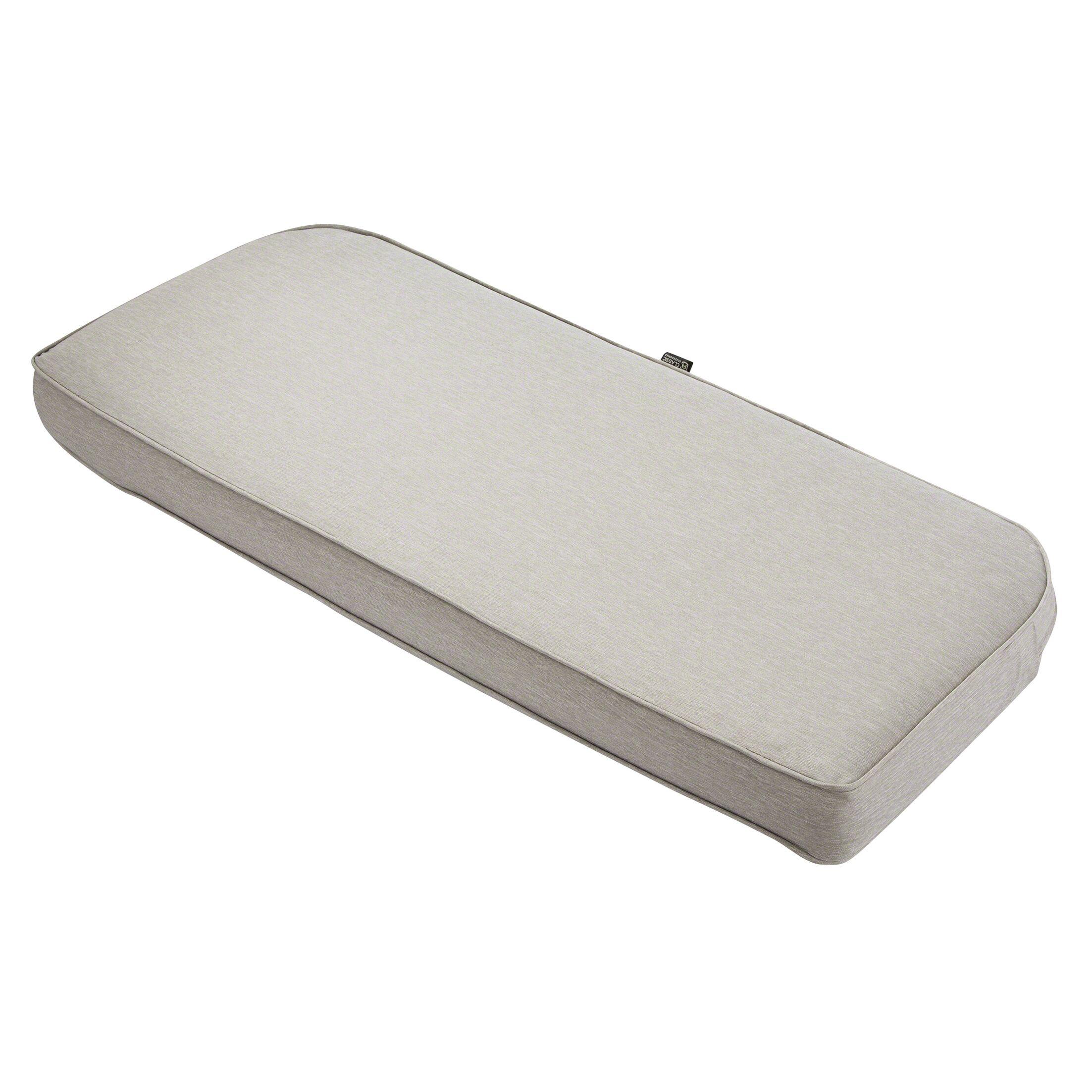 Gunn FadeSafe? Outdoor Bench Cushion Fabric: Heather Gray