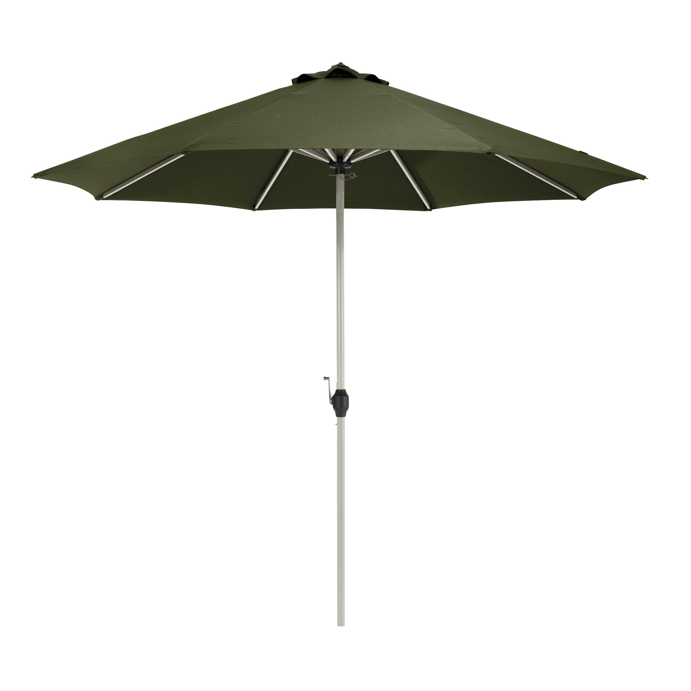 Gunn Fadesafe? 9' Market Umbrella Fabric: Heather Fern Green
