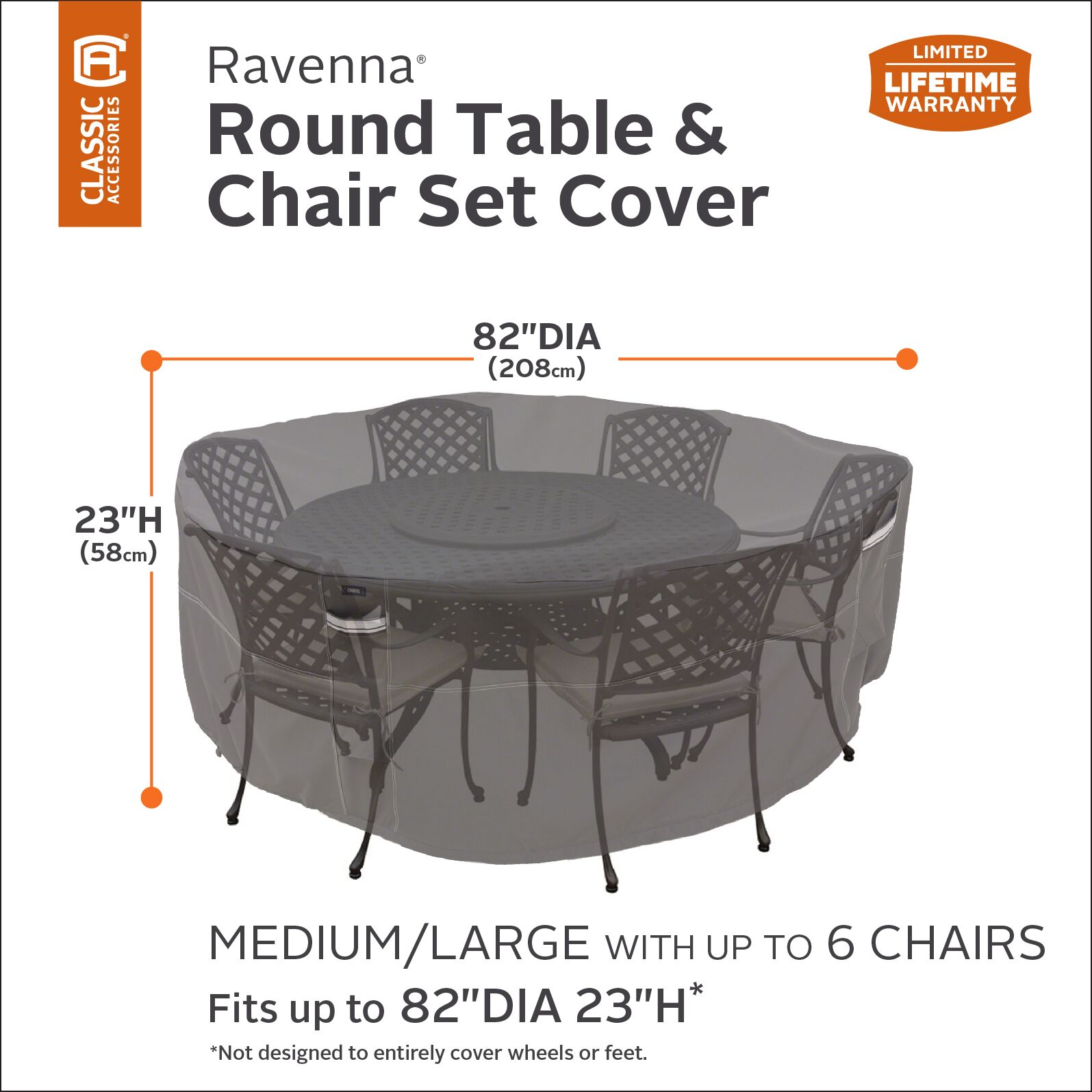 Water Resistant Round Patio Dining Set Cover Size: 24