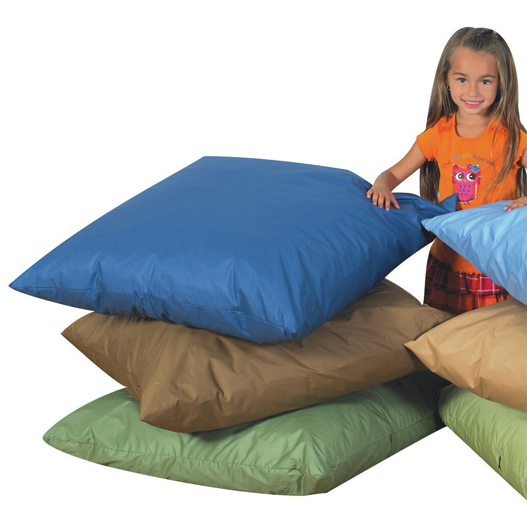 Floor Pillow Color: Dark Green / Dark Blue / Dark Brown