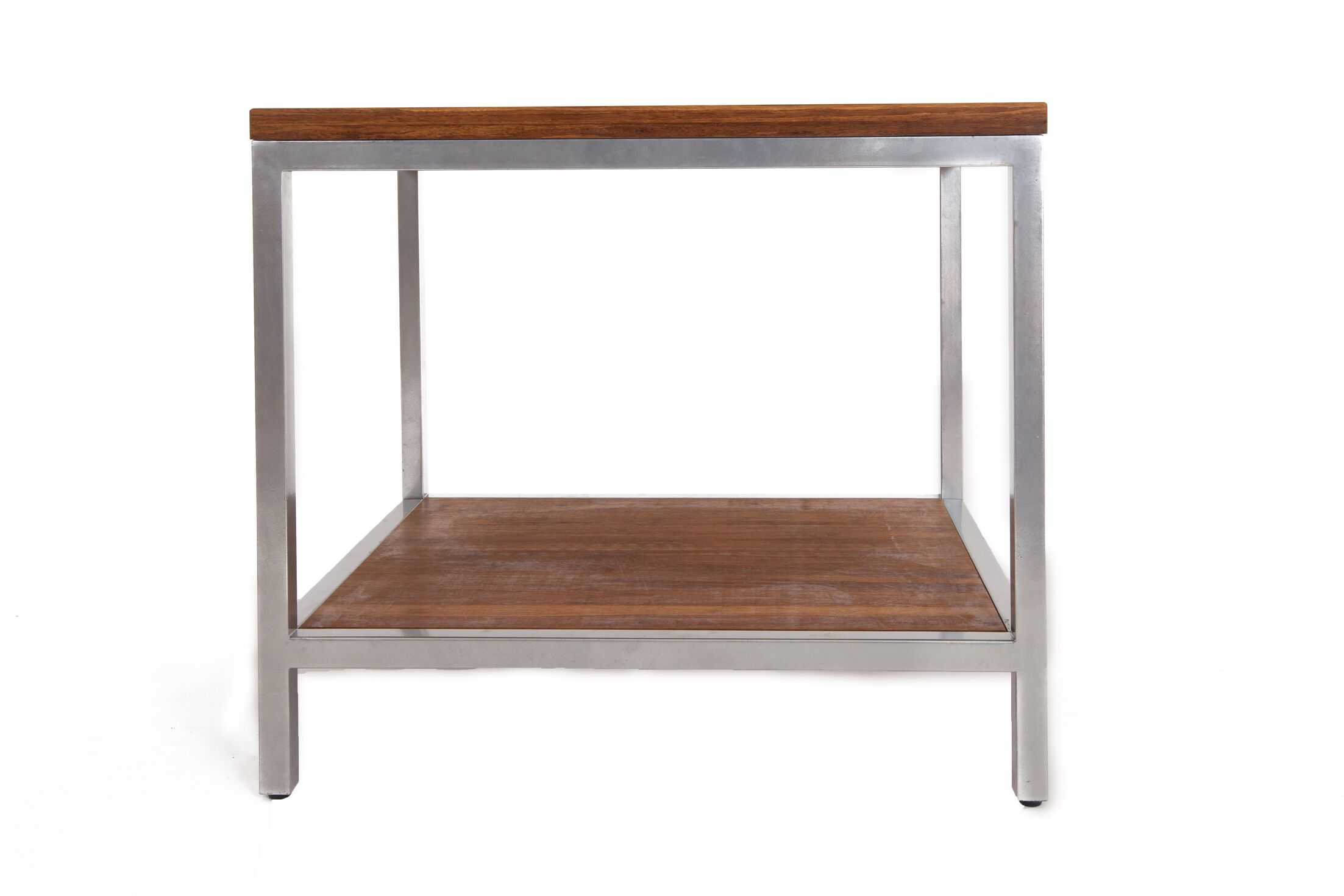 Betances Steel Framed Bamboo Side Table Color: Koa