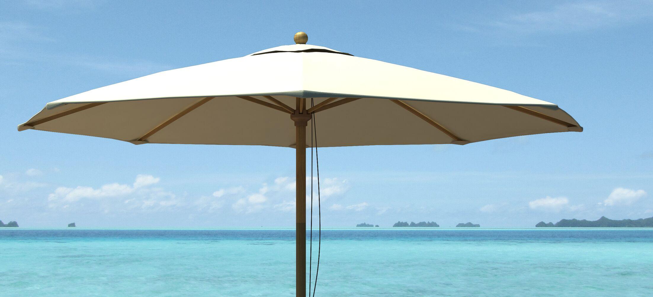 .75' Market Umbrella Fabric: Natural