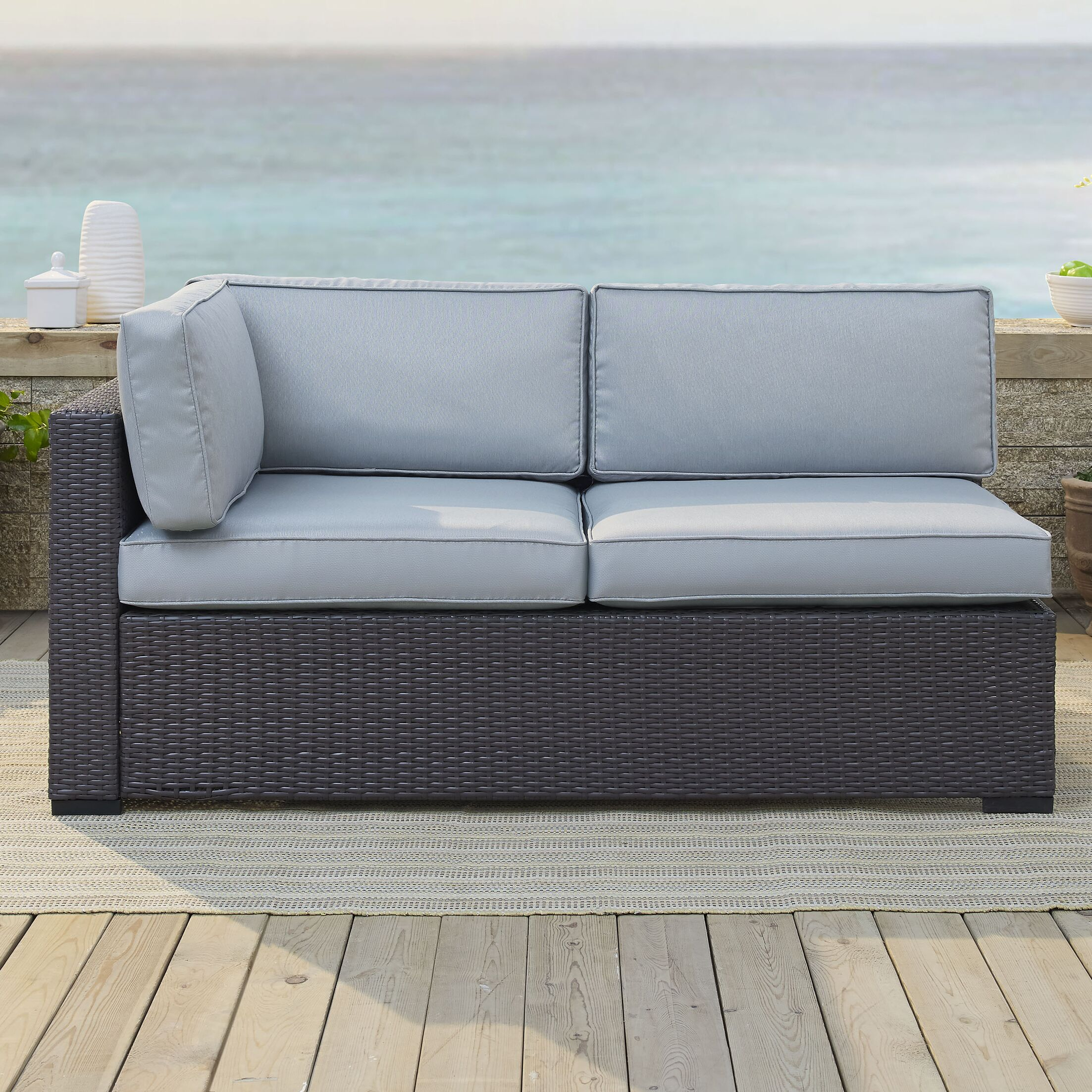 Dinah Loveseat with Cushions Fabric: Mist