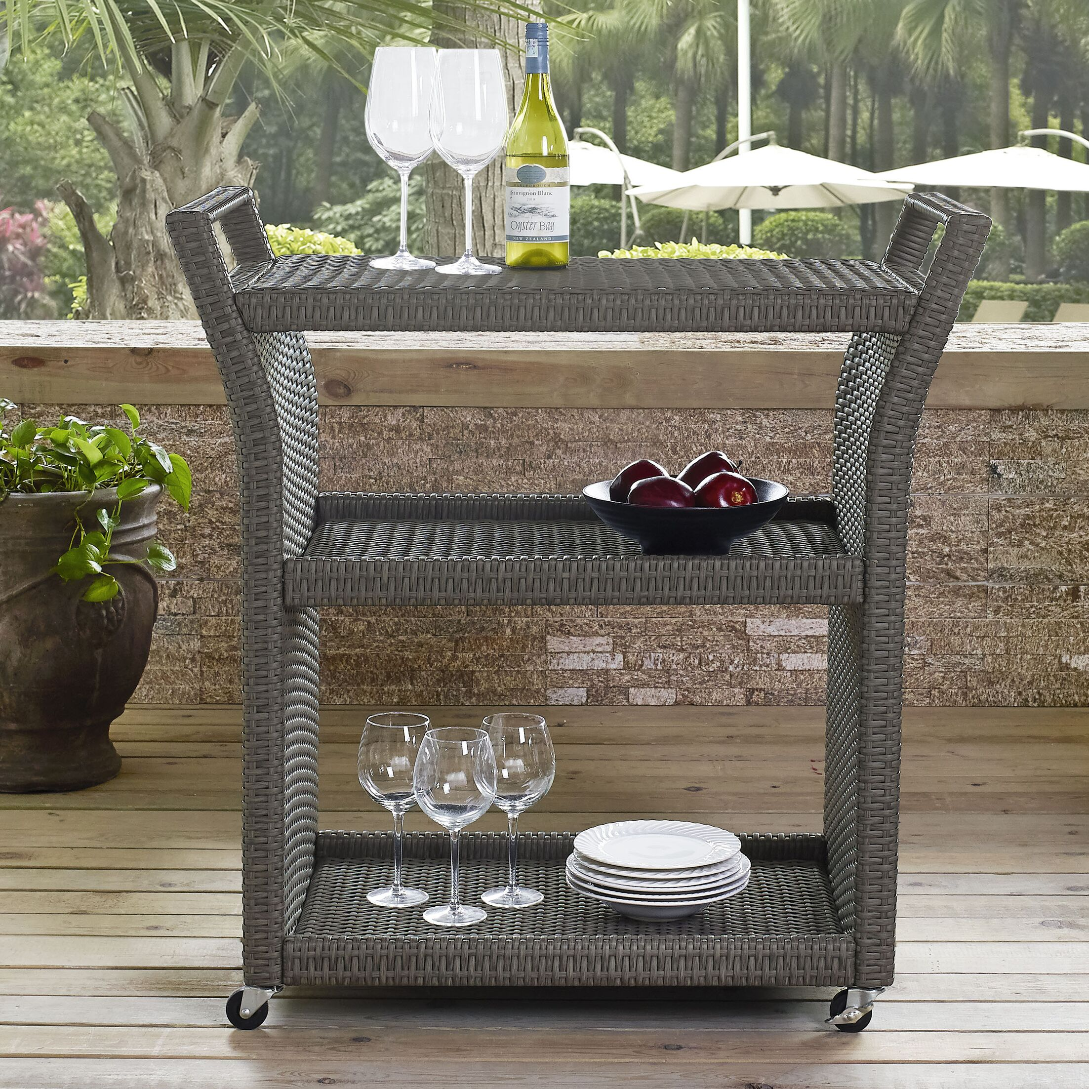 Brandy Outdoor Bar Serving Cart