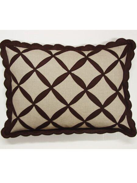 Symmetry Linen Lumbar Pillow Color: Brown