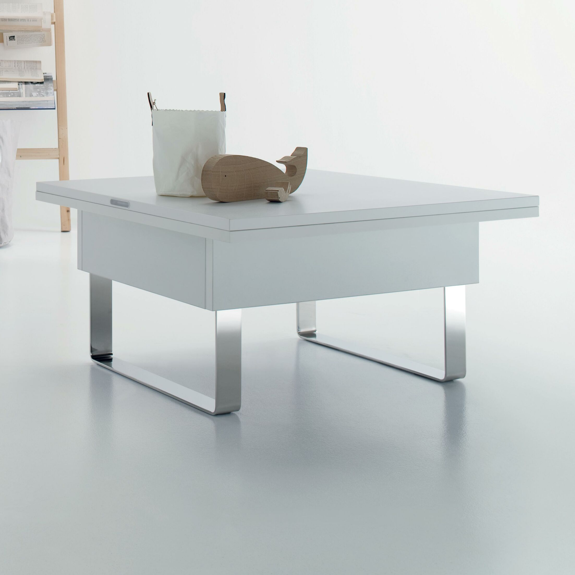 Cleo Lift Top Coffee Table Top Color: White Laminate
