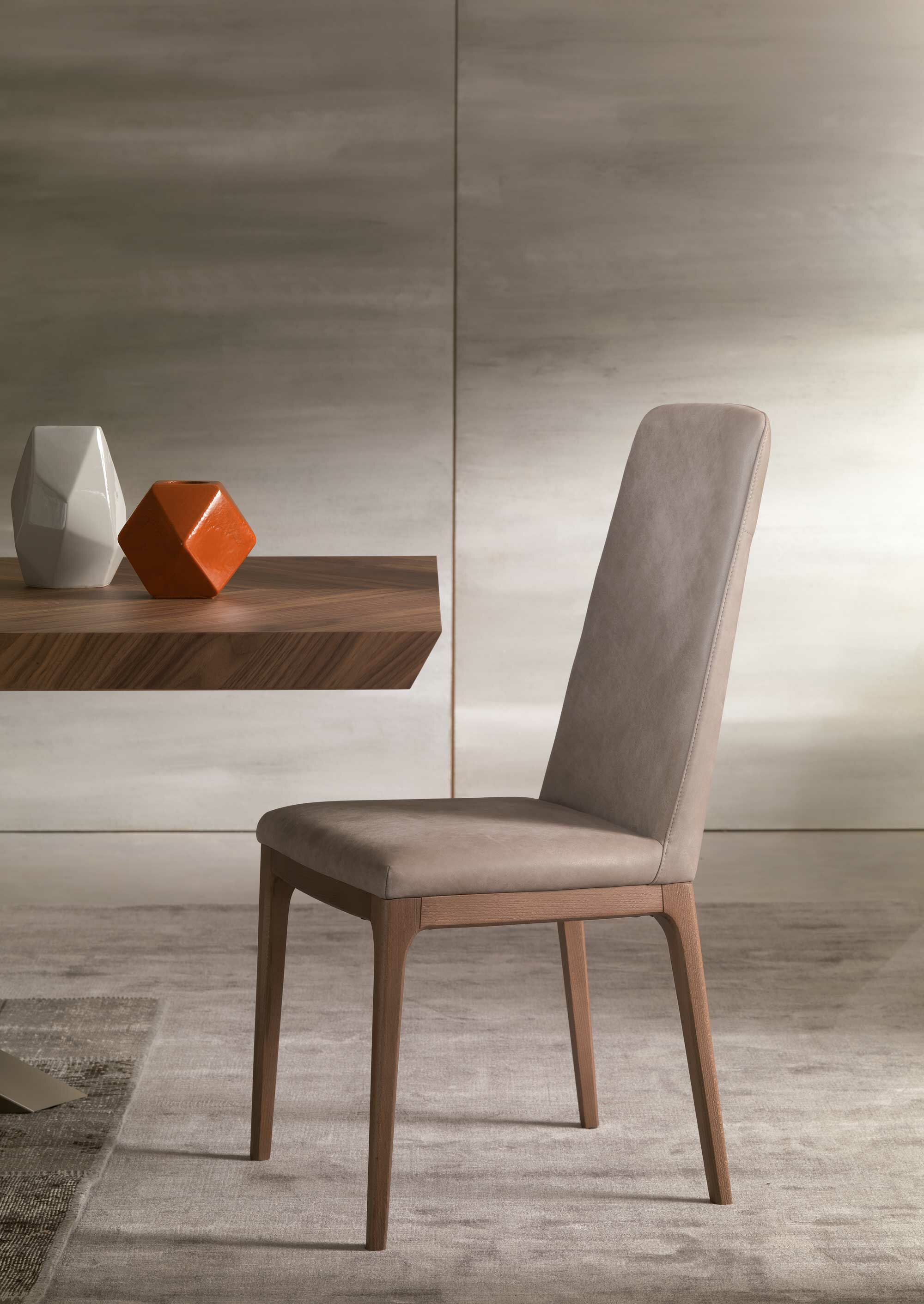 Post Genuine Leather Upholstered Dining Chair Upholstery Color: Light Gray