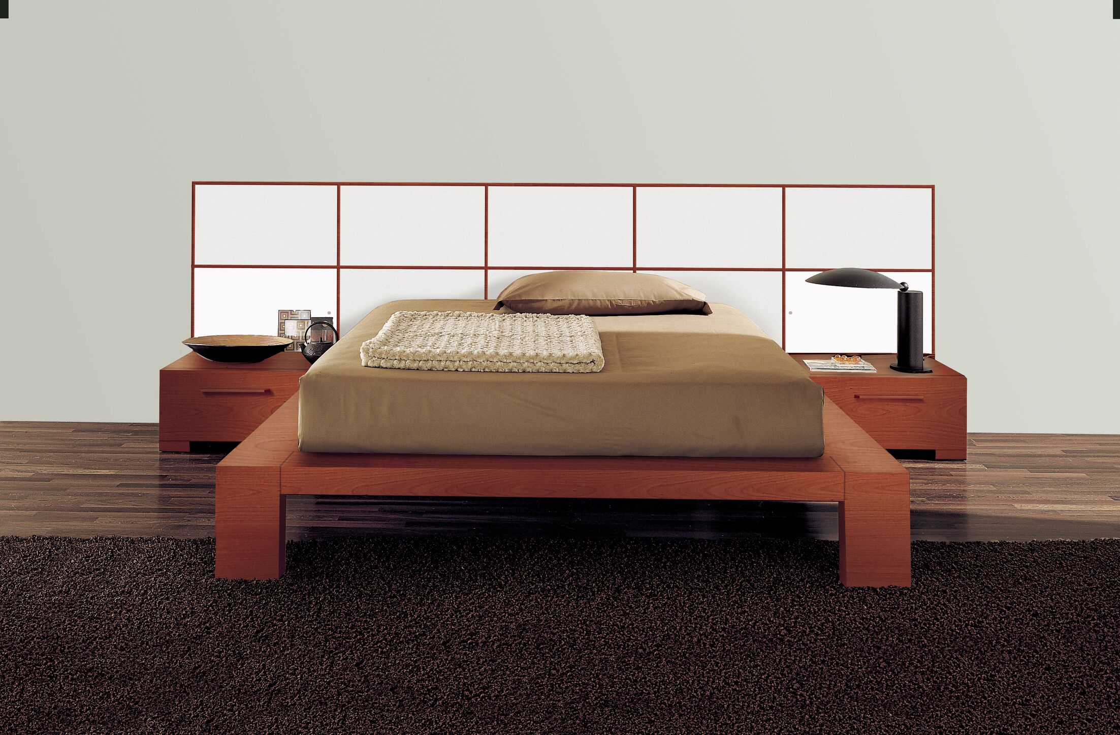 Wynd Platform Bed Size: California King, Color: High Gloss White