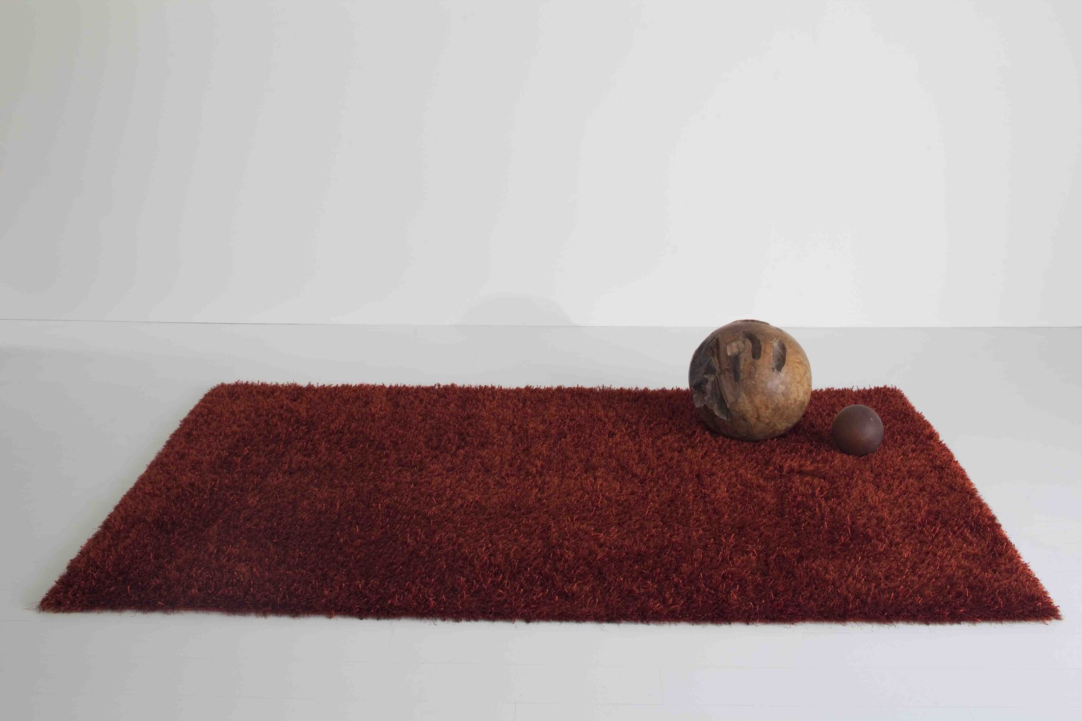 Domus Red Area Rug Rug Size: 5'3