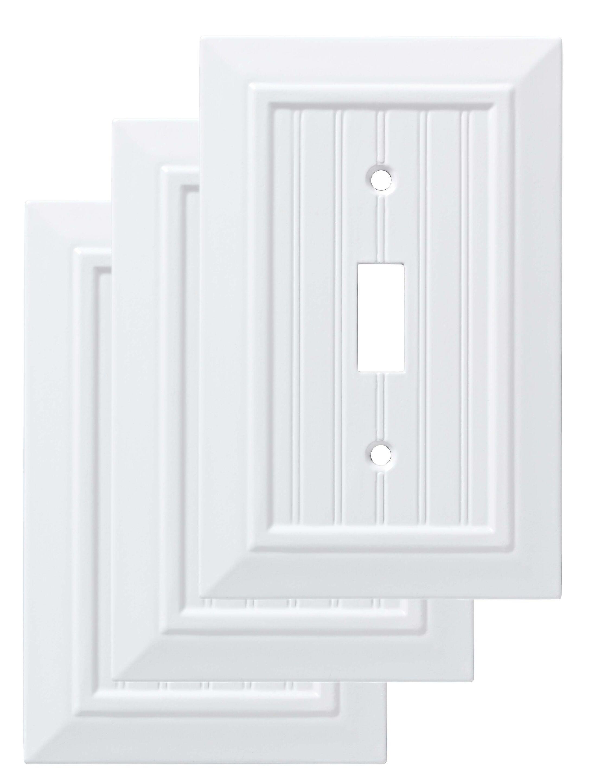 Classic Beadboard Single Switch Wall Plate