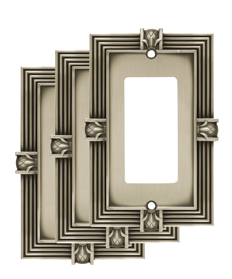 Pineapple Single Decorator Wall Plate Color: Brushed Satin Pewter