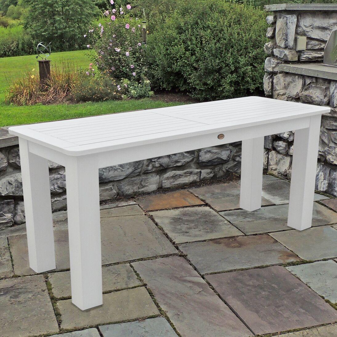 Draves Plastic Dining Table Finish: White