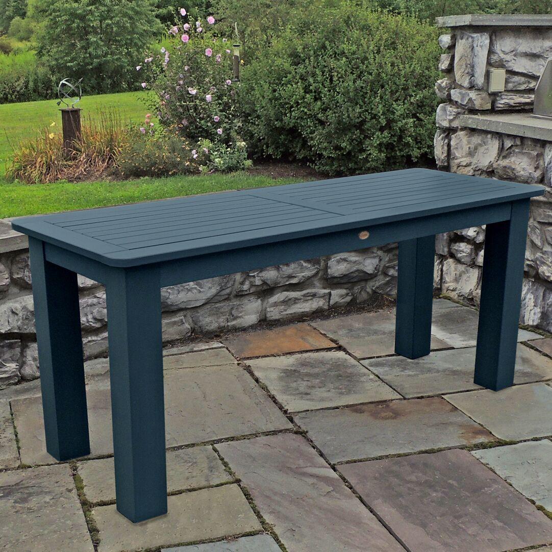 Draves Plastic Dining Table Finish: Nantucket Blue