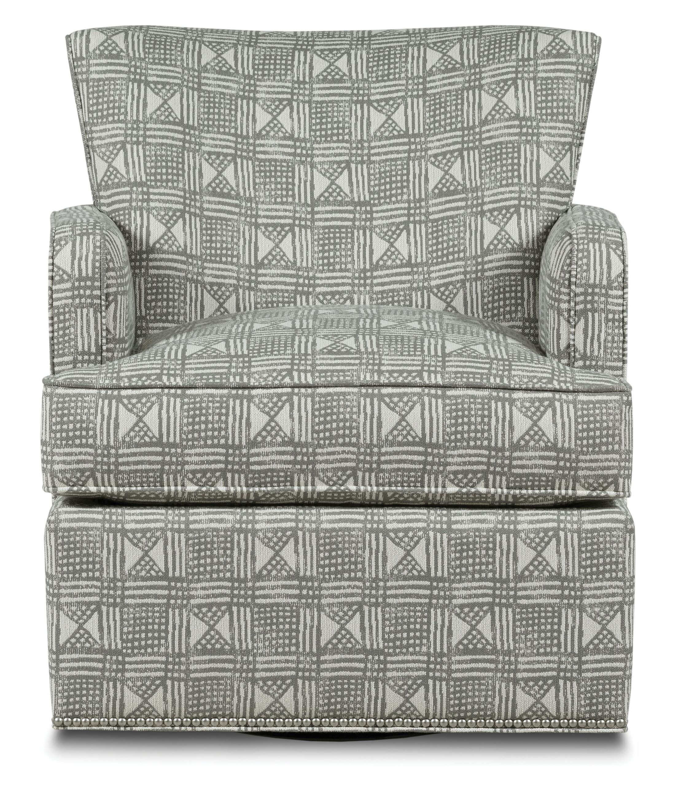 Blaire Swivel Armchair Body Fabric: 9691 Mist