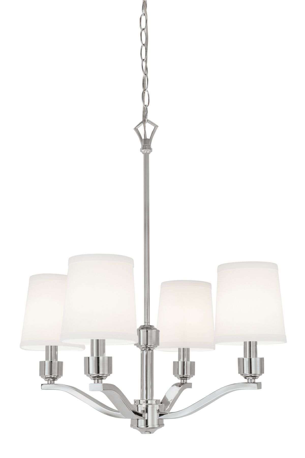 Shaun 4-Light Shaded Chandelier Finish: Polished Nickel