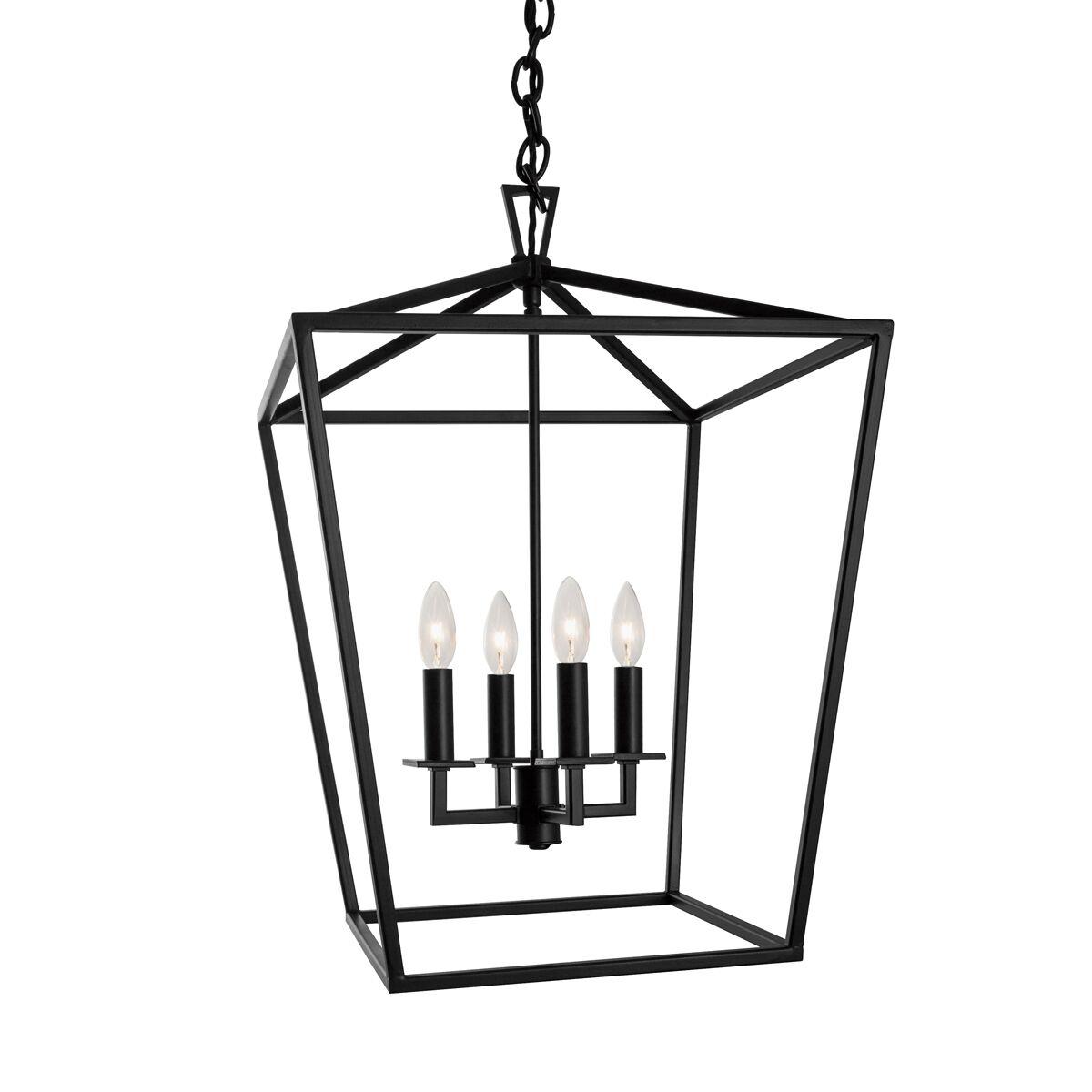 Noor Cage 4-Light Foyer Pendant Finish: Polished Nickel
