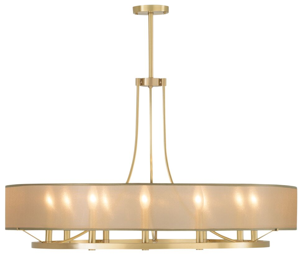 Chris 9 Light Candle-Style Chandelier Shade Color: Silver, Finish: Satin Brass