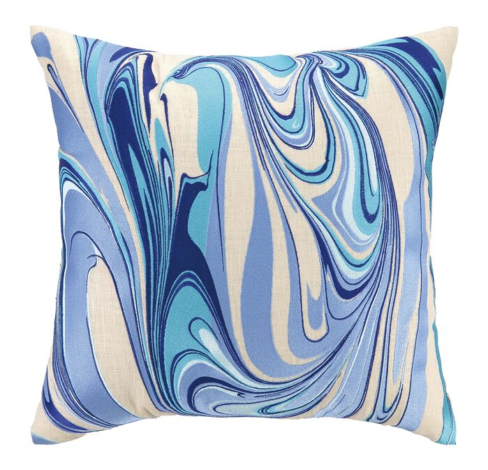 Accent Pillows Marbled Madness Embroidered Decorative Linen Throw