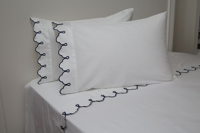 51dfc6ae675d Claudie Embroidered 300 Thread Count 100% Cotton Sheet Set Size  Twin
