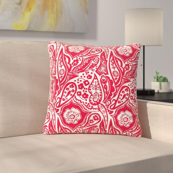 Accent Pillows Agnes Schugardt Paisley Paisley Outdoor Throw Pillow