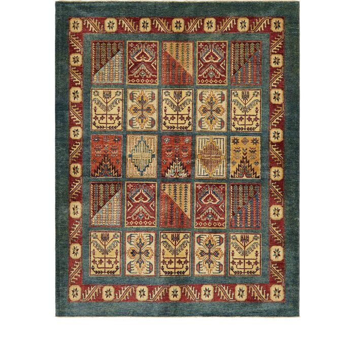 Area Rugs One Of A Kind Denver Hand Knotted Wool Yellow Red Area Rug