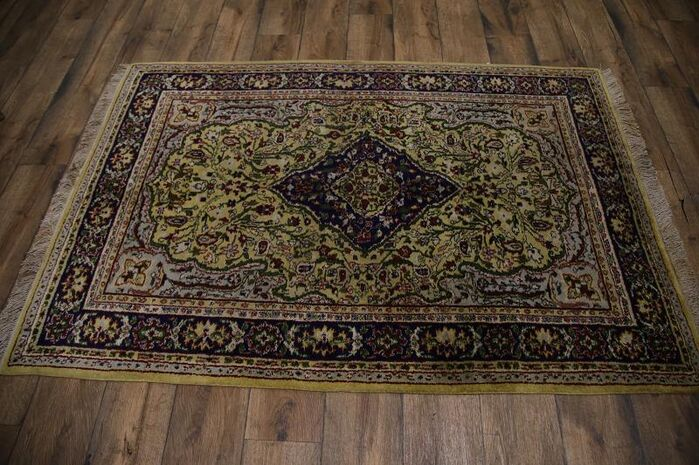 Area Rugs Athema Jaipur Vintage Oriental Hand Knotted Wool Green