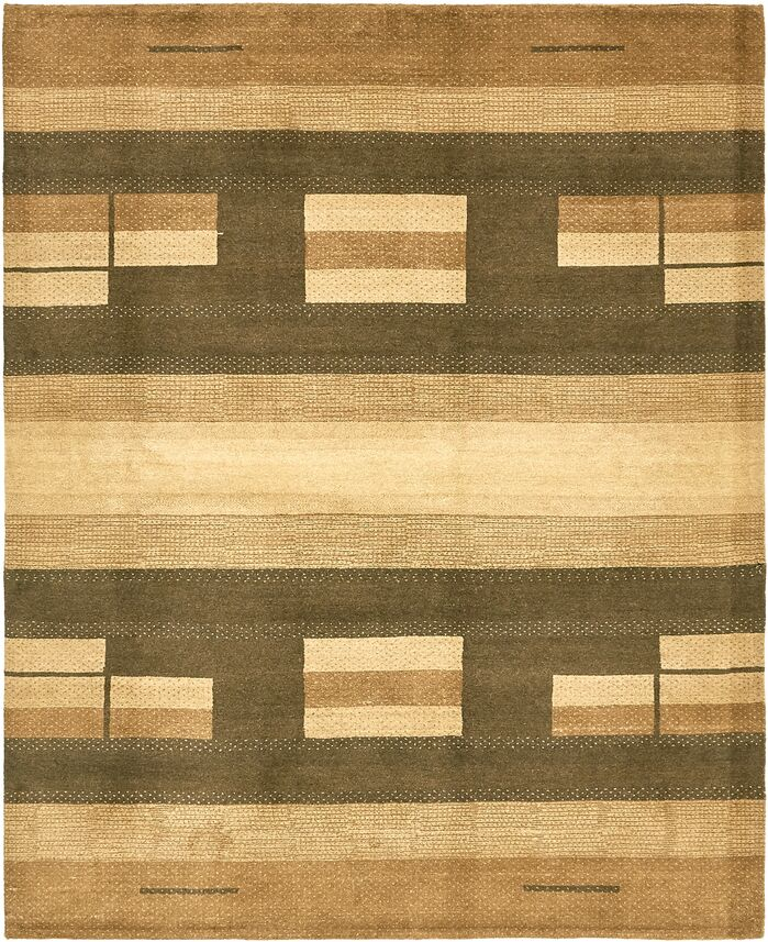 Area Rugs One Of A Kind Didcot Hand Knotted 6 7 X 8 Wool Brown