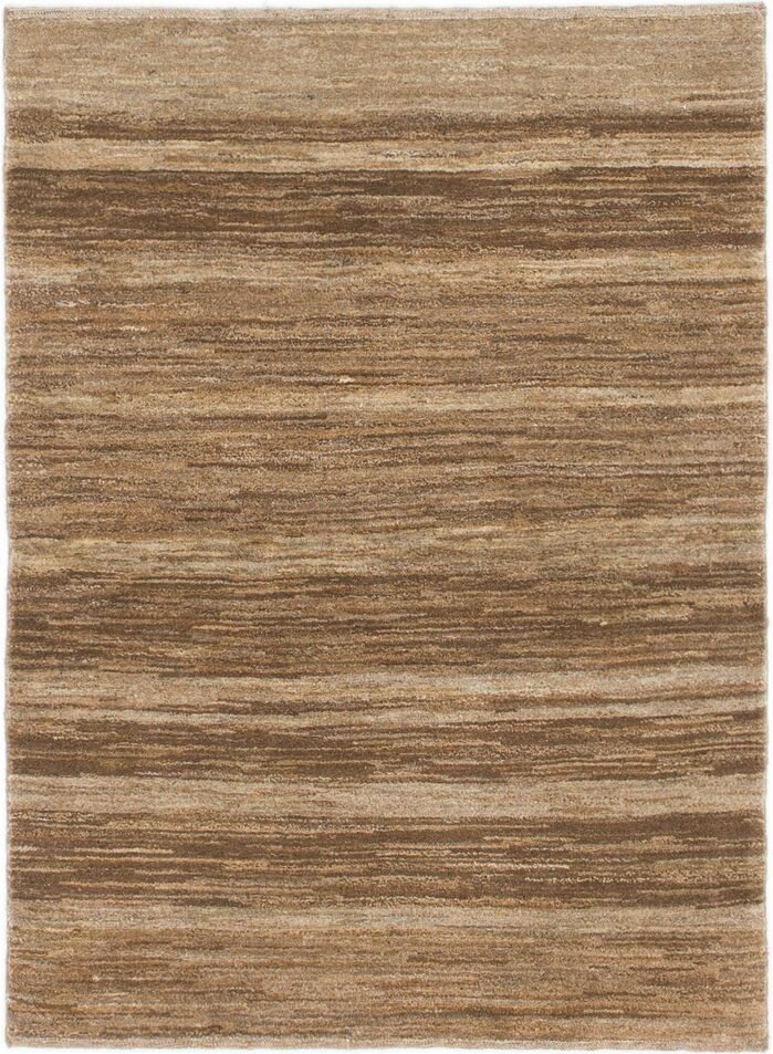 Area Rugs One Of A Kind Didcot Hand Knotted 3 4 X 4 7 Wool Brown