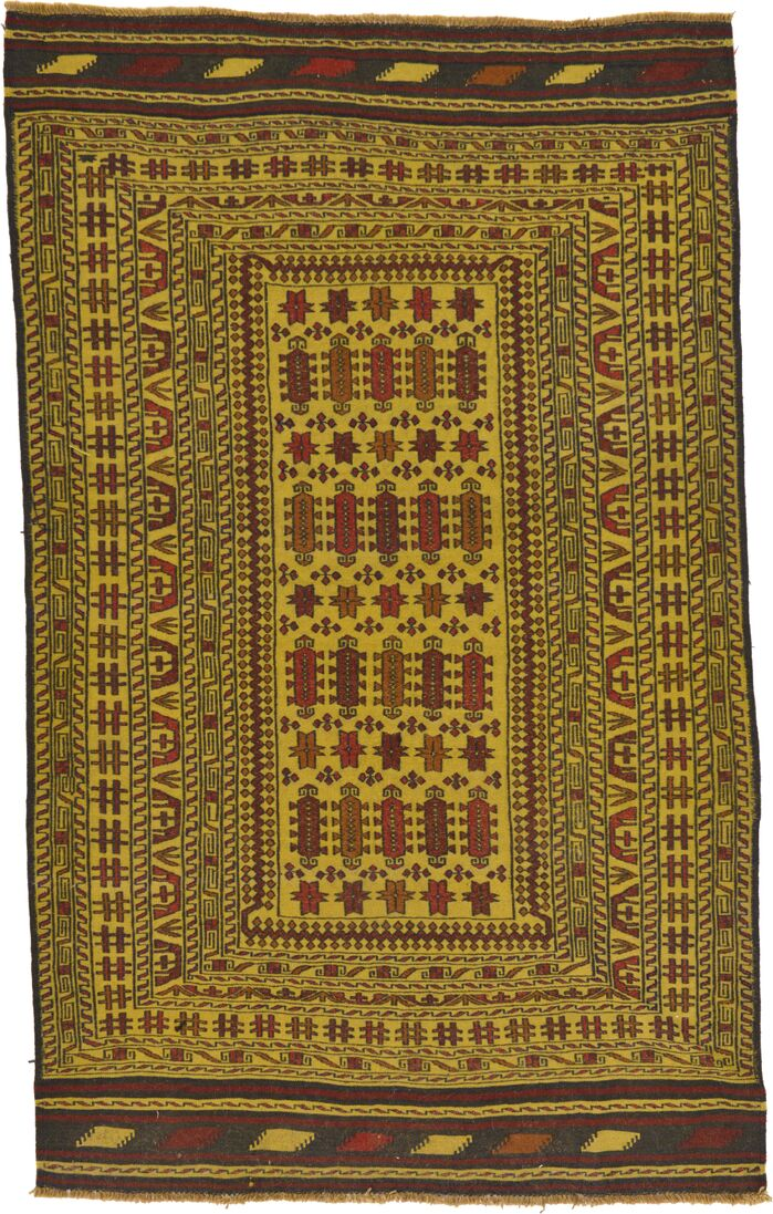 Area Rugs One Of A Kind Warminster Hand Knotted Wool Greenred
