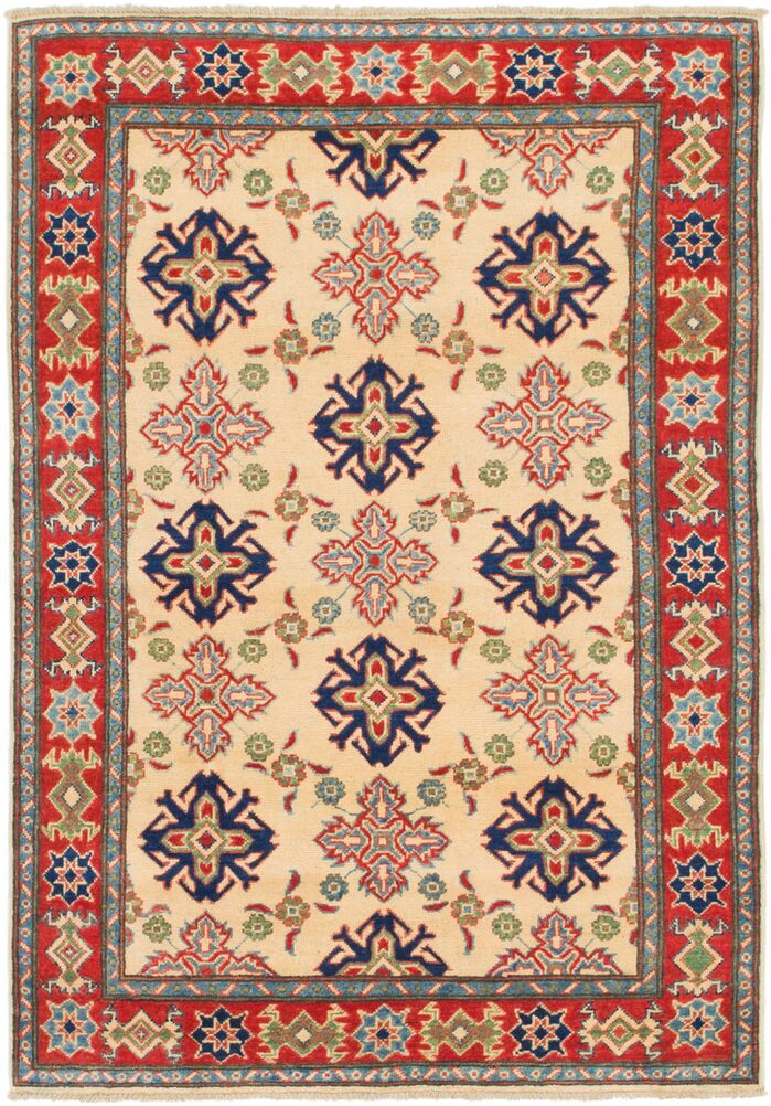 Area Rugs One Of A Kind Alayna Hand Knotted Cream Red Area Rug