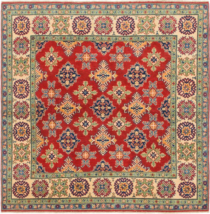 Area Rugs One Of A Kind Alayna Hand Knotted Wool Red Green Area Rug