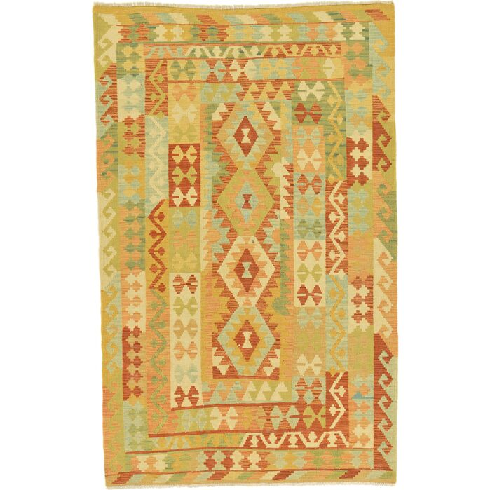 Area Rugs One Of A Kind Elland Hand Knotted Wool Redgreen Area Rug