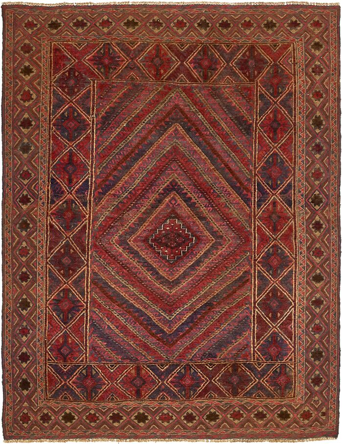 Area Rugs One Of A Kind Earley Hand Knotted 4 8 X 6 Wool Red Area