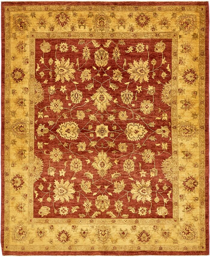 Area Rugs One Of A Kind Huntingdon Hand Knotted Wool Yellow Red Area