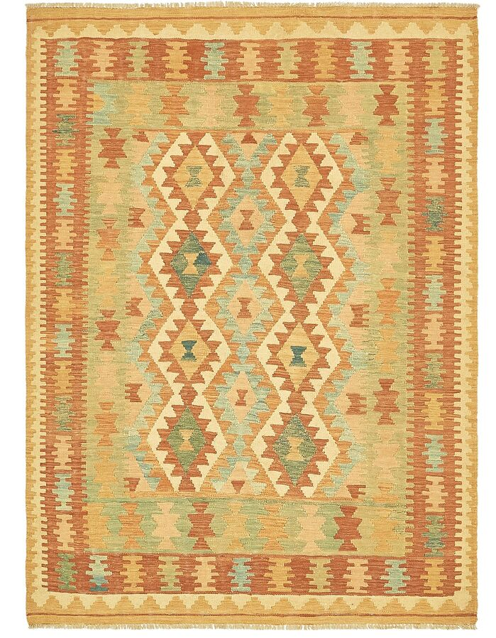 Area Rugs One Of A Kind Elland Hand Knotted Wool Red Green Area Rug