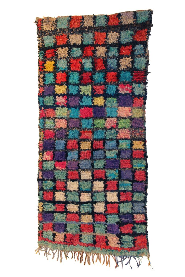 Area Rugs Boucherouite Azilal Hand Woven Red Green Area Rug February